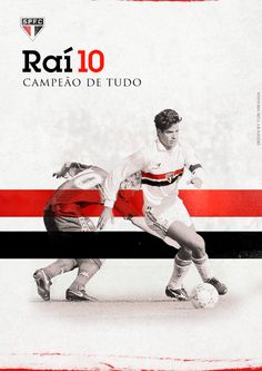 Raí, one of the greatest players of São Paulo FC. 2 Copa Libertadores,  2  Intercontinental cups!  Designed by Yuri Miranda: