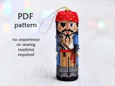 This listing is for a digital cross stitch pattern on making a Pirate cross stitch Christmas ornament, NOT the finished product. The finished cross stitch shown in the photos is for demonstration purposes only.  ✄✄✄✄✄✄✄✄✄✄✄✄✄✄✄✄✄✄✄✄✄✄✄✄  This modern cross stitch pattern is:  - lovely to look - fun and easy to stitch - no sewing machine needed  Finished Pirate is about 4 tall on 18 count Aida. ✄✄✄✄✄✄✄✄✄✄✄✄✄✄✄✄✄✄✄✄✄✄✄✄  This original Christmas cross stitch pattern is from my series of…