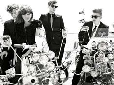 Leslie Chen's a bit dim. these are obviously mods - not greasers- and obviously scooters, not motorcycles.    maybe she's just esl.     Vogue Italia August 2011. I'll take one of each, please.