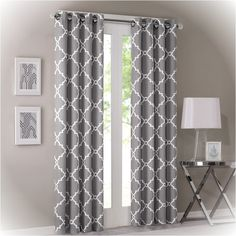 Adding texture and depth to a space with curtains complements and warms up any room while stylishly framing a room's window. This is a 3-item set. This set includes 2 curtain panels and 1 adjustable r