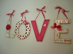 Valentine's Day...would also like to get the letters like this with READ for my classroom w/book themed scrapbook paper