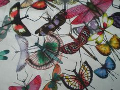 """CHRISTIAN LACROIX CRAFT FABRIC REMNANT """"MARIPOSA"""" 118 X 145 CM 100% COTTON in Crafts, Sewing & Fabric, Fabric 