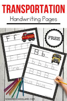 FREE Transportation Handwriting Printables - kids will have fun practicing tracing letters with these free printable alphabet pages perfect for transportation theme with preschool, kinderarten and more! Preschool Letters, Letter Activities, Free Preschool, Preschool Printables, Preschool Worksheets, Writing Activities, Tracing Letters, Alphabet Letters, Teaching Resources