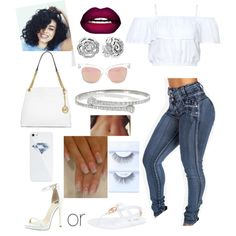 DAY OUT by xbabyxdesx on Polyvore featuring polyvore fashion style MICHAEL Michael Kors River Island Gucci Pandora BlissfulCASE