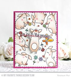 Handmade card from Yoonsun Hur featuring Sow Much Cuteness stamp set and Die-namics #mftstamps