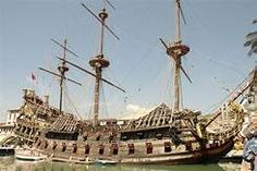 "Spanish Galleon Ship ""Neptune"" docked in Genoa. Spanish Galleon, Old Sailing Ships, Full Sail, Boat Projects, Roman Polanski, Love Boat, Speed Boats, Tall Ships, Pirates Of The Caribbean"