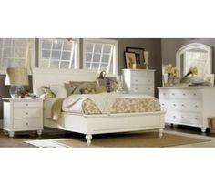 Aspen Home Cambridge 5 Piece Sleigh Bedroom Set In Eggshell