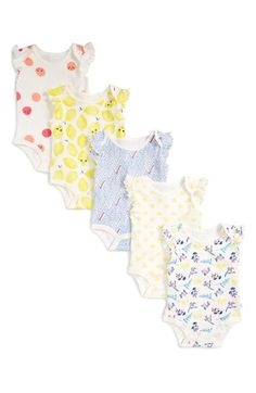 Rosie Pope Print Bodysuits (5-Pack) (Baby Girls) available at #Nordstrom