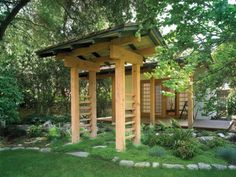 Natural looking archway brings home the Japanese garden atmosphere with ease #japanese #garden #ideas