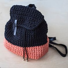 Custom Crochet Backpack by KnitKnotKiev on Etsy