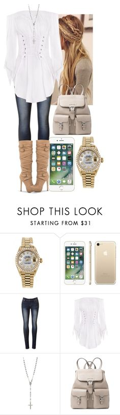 """Untitled #2140"" by forever-ur-sickest-hoe ❤ liked on Polyvore featuring Rolex and Michael Kors"