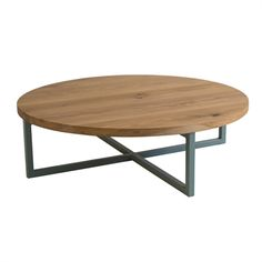 Charmant Simple Circular Coffee Table With Solid Timber Top, Steel Base With Choice  Of Rusted Or Powdercoated Finish. Also Available With A Timber Base.