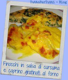 FINOCCHI IN SALSA DI CURCUMA E CAPRINO GRATINATI AL FORNO #ricette #food #recipes