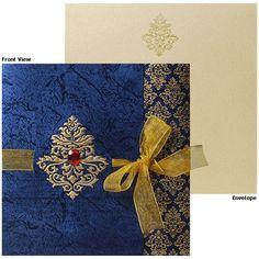 royal blue indian wedding invitations - Google Search