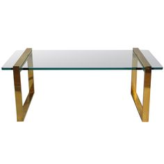 A Brass Coffee Table | From a unique collection of antique and modern coffee and cocktail tables at https://www.1stdibs.com/furniture/tables/coffee-tables-cocktail-tables/