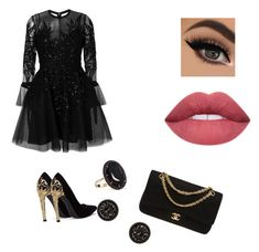"""""""#black"""" by mari-c17 ❤ liked on Polyvore featuring Elie Saab, Andrea Fohrman, Chanel, black and fashionset Chanel Black, Elie Saab, Polyvore, Image, Furniture, Fashion, Moda, Fashion Styles, Home Furnishings"""
