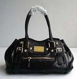 Dolce Gabbana 88069 Wonderful Style Snake Grain Handbag-Black