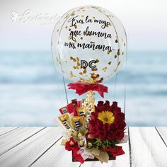 Ballon Arrangement, Balloon Gift, Happy Love, Love Is Sweet, Couple Gifts, Gift Baskets, Bubbles, Arts And Crafts, Bouquet