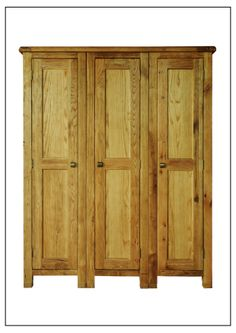 ELEPHANT  FURNITURE - Danube -  3 Door Lady Wardrobe (1600mm x 630mm x 2000mm High)  DWO-3DLW044 - SPECIAL PRICE: $545.11 Decor, Weathered Oak, Oak, Armoire, Furniture, Home Decor, Buying Wholesale, Retail Price