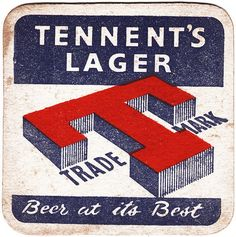 Tennent's Beer Mats by Robert Pool's Glasgow Collection, via Flickr