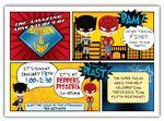 Super Kids Comic Batman & Spiderman Twins Birthday Invitation