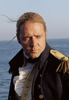 Russell Crowe in Master and Commander/ one of my all time favorite movies.great sound track,too. And did I mention RUSSELL CROWE! Russell Crowe Gladiator, Master And Commander, The Far Side, Hollywood Actor, Celebs, Celebrities, Good Looking Men, Best Actor, Movies And Tv Shows