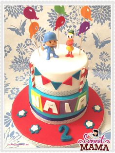 Pocoyo simple and beautiful cake. #pocoyo #cake www.sweetmama.es