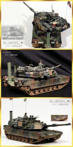 M1A1 ABRAMS, built by master moder Kim hyun-soo, south korea