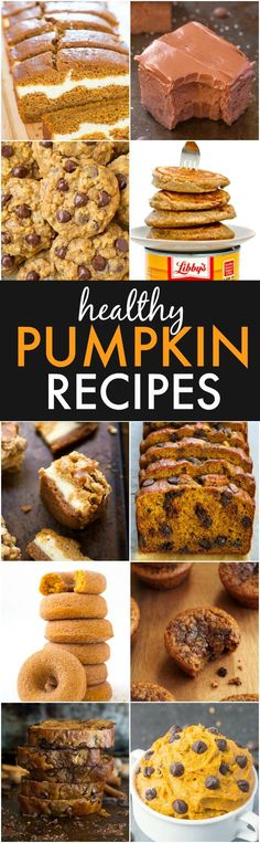 The BEST Healthy Pumpkin Recipes- Hands down, the BEST pumpkin recipes ever and ALL healthy recipes! {vegan, gluten free, sugar free, paleo recipe options}- thebigmansworld.com