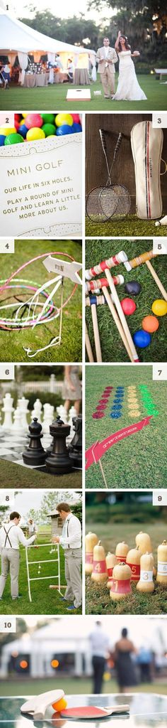 I love the ideas of lawn games! Perfect for a casual, outdoor wedding!