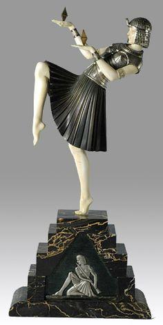 Demetre Chiparus - Art Déco - Sculpture 'Danseuse Nubienne'