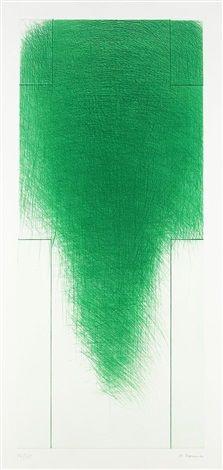Grünes Kreuz by Arnulf Rainer