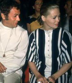 Tony Curtis e Faye Dunaway assistono al défilé di MareModa Capri
