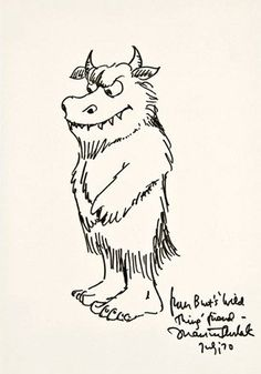 Maurice Sendak's self-portrait. (from a collection of self-portraits on the Daily Beast.)