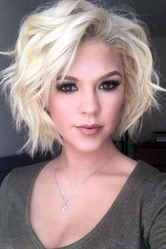 48 Short Wavy Hairstyles For 2019 Our Latest Favorites Short Dark Hair, Short Hair Updo, Short Hair With Bangs, Cute Hairstyles For Short Hair, Girl Short Hair, Short Hair Cuts For Women, Bob Hairstyles, Short Hair Styles, Short Wavy Haircuts