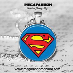 Superman Logo Necklace Superman Jewelry Superheroes Jewelry