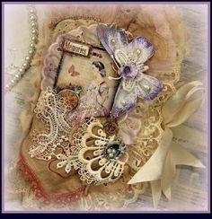 LARGE MEMORIES COLLAGE FABRIC BOOK SCRAPBOOK ALBUM MOTHER'S DAY ELITE4U KHATSART
