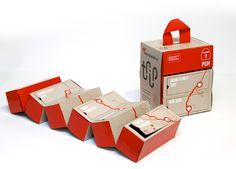 Trip Kit / Branding & Packaging / Designed by Olivia Paden, Art Center College of Design, California Cool Packaging, Design Packaging, Packaging Boxes, Origami, Student Travel, Student Work, Road Trip Adventure, Lesage, Kits For Kids