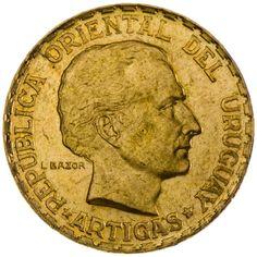 Uruguay, 5 Pesos 1930 Gold