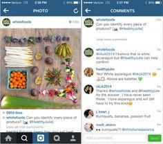 alimentos integrales ejemplo comercialización Instagram