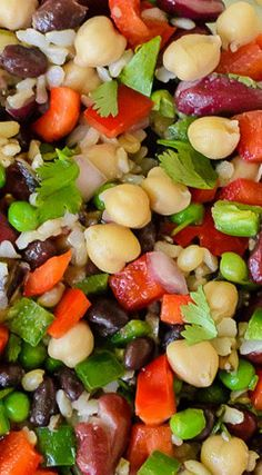Three Bean Salad with Wild Rice