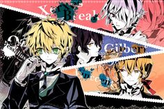 Tags: Fanart, Pandora Hearts, Gilbert Nightray, Xerxes Break This is my 81 pin to my bored Wonderland/Pandora Hearts And all together my 5,000 pin!! Wish me luck!!