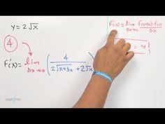 Derivar una raíz cuadrada con incrementos (4 pasos). Derivate a square root via increments (4 steps)