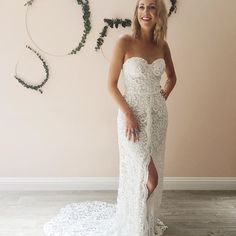 Our SF stylist looking like a bombshell in the Benny Bodhin from Rue De Seine Moonlight Magic Collection at Lovely Bride SF