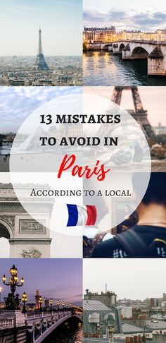 13 mistakes to avoid in Paris according to a local