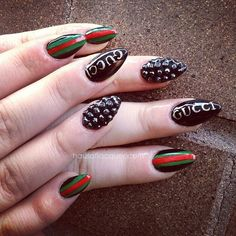 hausoflacquer: Gucci nails done at @crownthequeens. Email... - http://goo.gl/1aAHOX