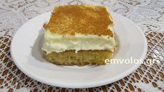 Πολίτικο γλυκό Καλαμπάκας γεύση μούρλια… που γίνεται γρήγορα και ξετρελαίνει μικρούς και μεγάλους. Το αρωματικό γλυκό το δοκίμασα πρώτη φορά στο ζαχαροπλαστείο Βαβίτσα, στην Καλαμπάκα στα ριζά των Μετεώρων. Σπεσιαλιτέ της περιοχής είναι η σπάτουλα αλλά και το πολίτικο που έχει άρωμα μαστίχας, κανέλας, πορτοκαλιού. Το κακό είναι ότι δεν σταματάς σε ένα κομμάτι… Γλυκιά … Greek Sweets, Greek Desserts, Greek Recipes, Sweets Recipes, Cooking Recipes, Butter Salmon, Greek Cooking, My Cookbook, Piece Of Cakes