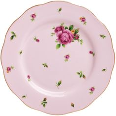 Royal Albert New Country Roses Pink Vintage Salad Plate found on Polyvore