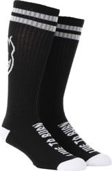 Spitfire Heads Up Sock - black/white