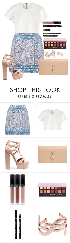 """Untitled #1489"" by fabianarveloc on Polyvore featuring Oasis, Neil Barrett, Aquazzura, Yves Saint Laurent, Anastasia Beverly Hills, Lancôme and Monica Vinader"
